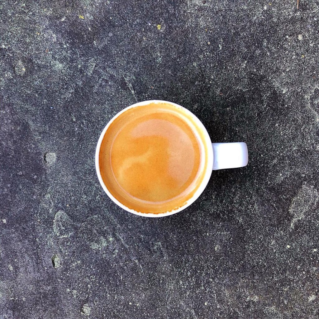 espresso shot on pavement