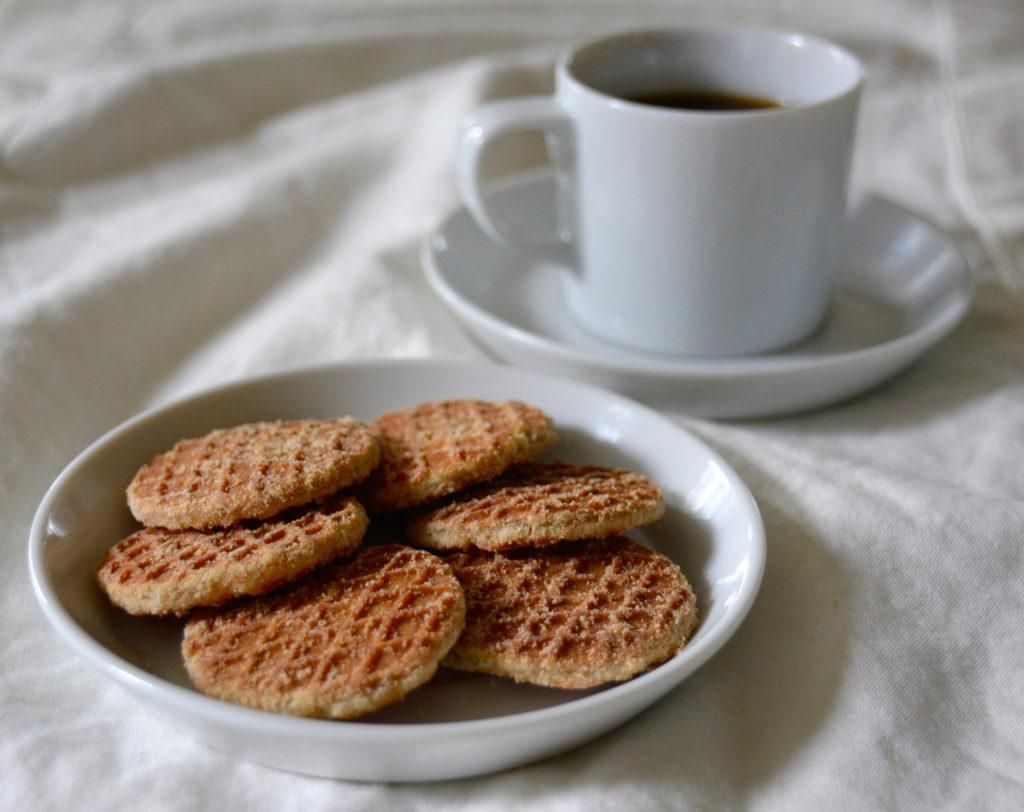 mini stroopwafels and coffee