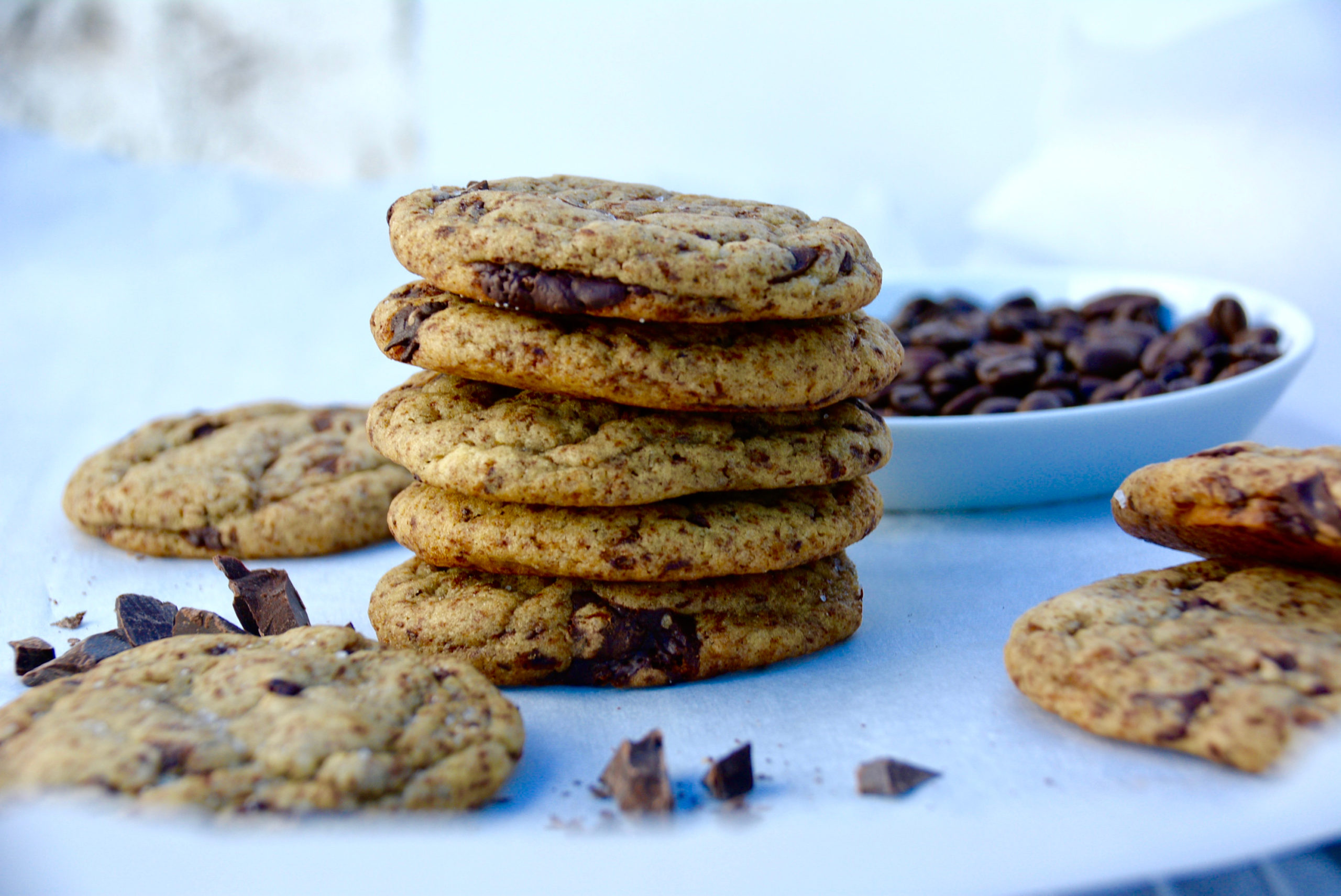 Espresso dark chocolate chip cookies