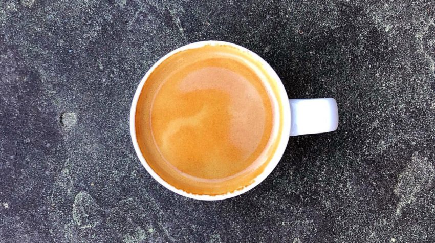 espresso shot on pavement