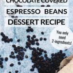 Chocolate Covered Espresso Beans Dessert Recipe