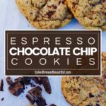 dark chocolate chip cookies espresso
