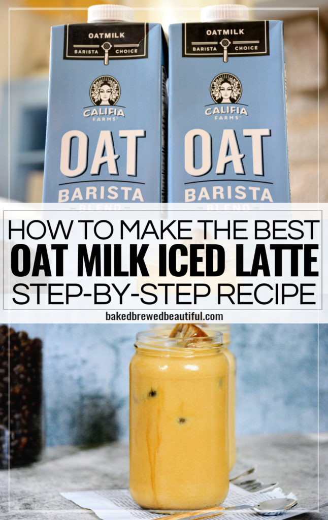 step by step oat milk iced latte recipe