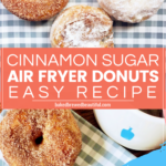 cinnamon sugar donuts and powdered sugar donuts