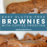 Easy Gluten Free Gooey Brownies with Coffee Frosting