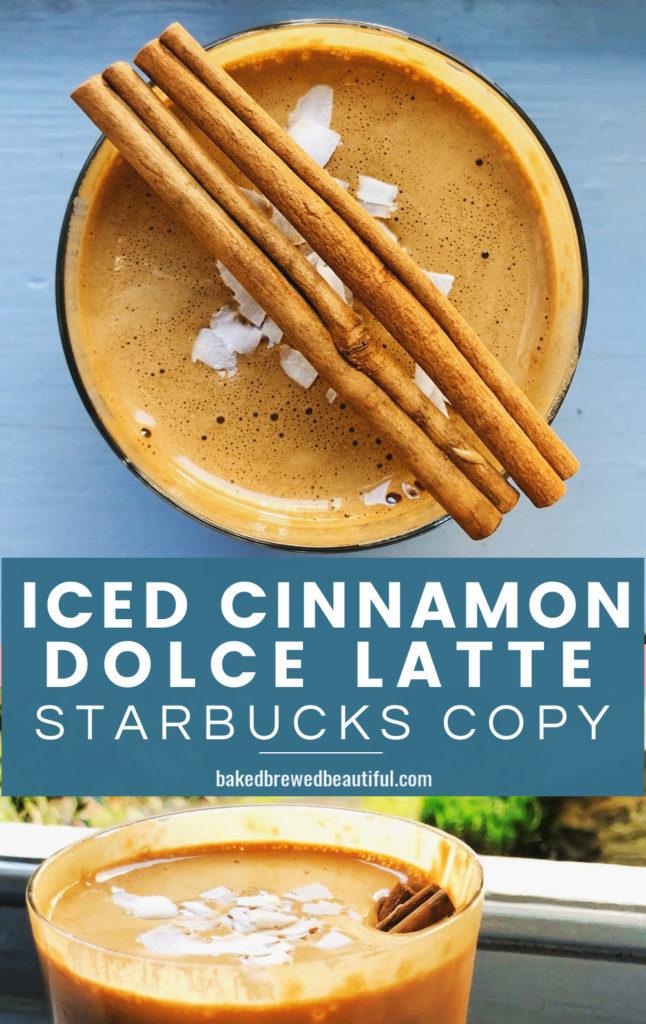 copycat cinnamon dolce latte Starbucks recipe