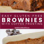 SMALL Batch Gluten FRee Brownies with Coffee Frosting