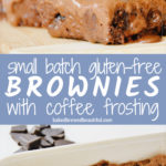 best small batch brownies recipe with coffee frosting