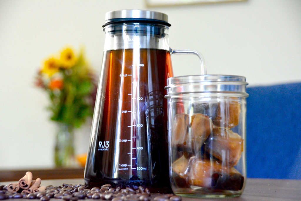 ovalware cold brew maker on table