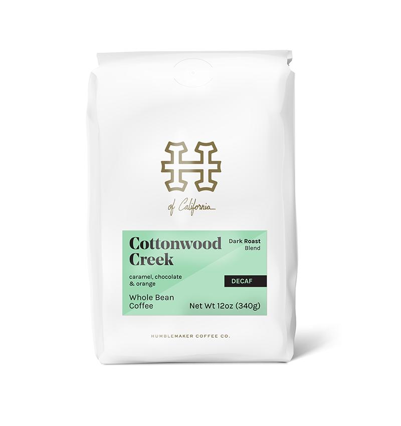 Humble maker whole bean coffee bag