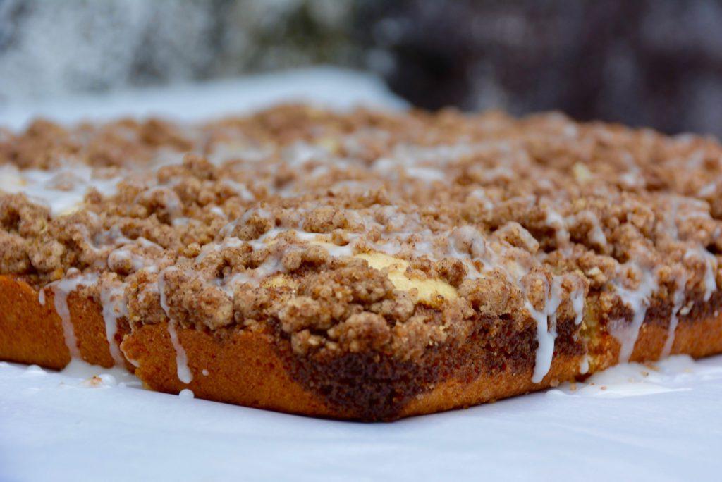 coffee cake with cinnamon streusel
