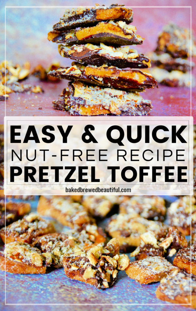 toffee recipe on colorful background