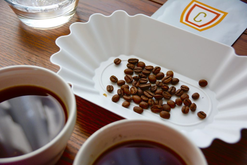 tasting tray white for cupping coffee at home