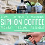bodum siphon coffee maker in use