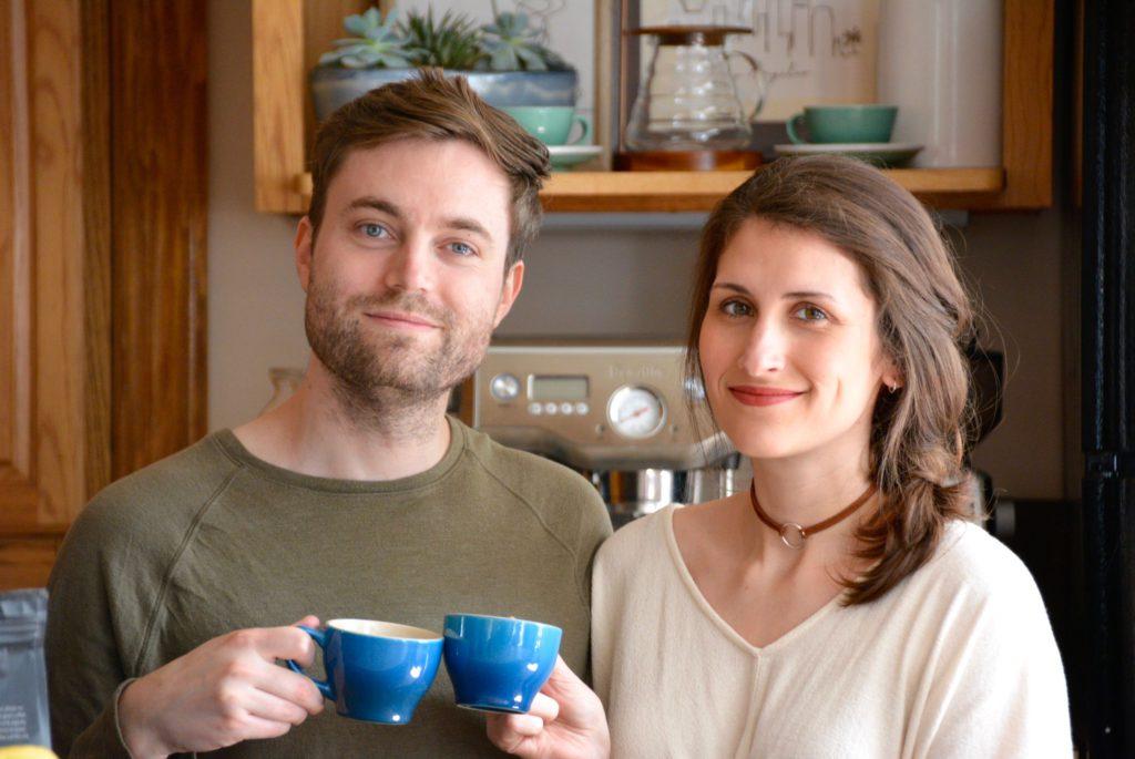 the elwells drinking coffee