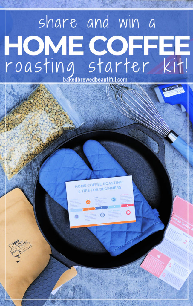 home coffee roasting starter kit with cast iron skillet