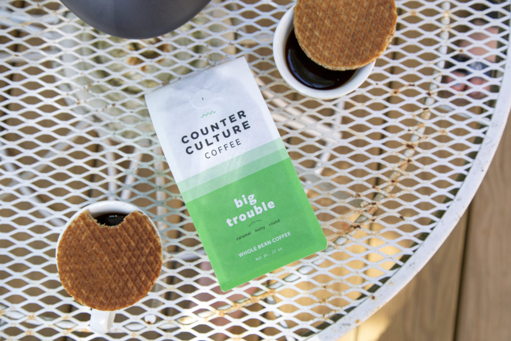 Counter Culture Coffee on table