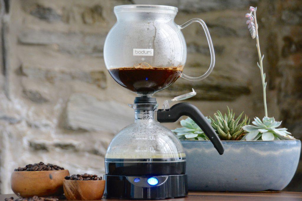 siphon coffee maker electric bodum